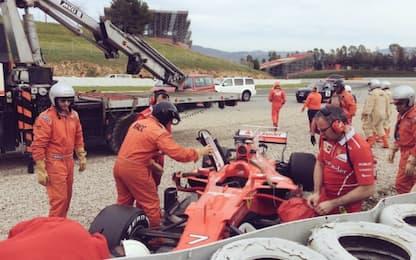 Test F1, il Day-2 è di Bottas. Incidente Kimi