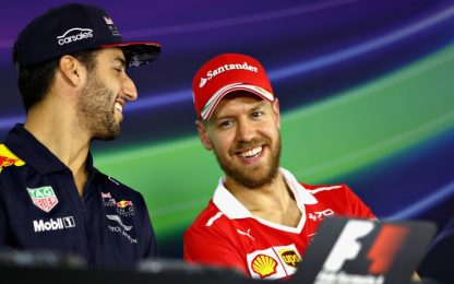 """Ricciardo: """"Vincere qui basta"""". Seb: """"Contento tu"""""""