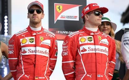 Vettel pensa in grande, Raikkonen cerca la rivalsa