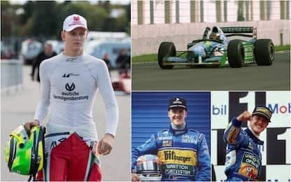 Spa, omaggio a Schumi: il figlio guida la Benetton