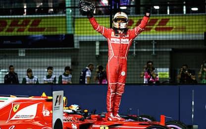 GP di Singapore, Vettel strepitoso: è in pole!