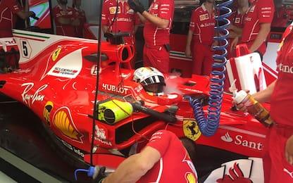 Malesia, libere 2 a Vettel. Incidente per Grosjean