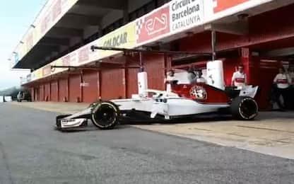 Alfa Romeo-Sauber, primi giri a Barcellona
