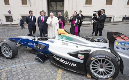 La Formula E a Roma, il Papa la benedice