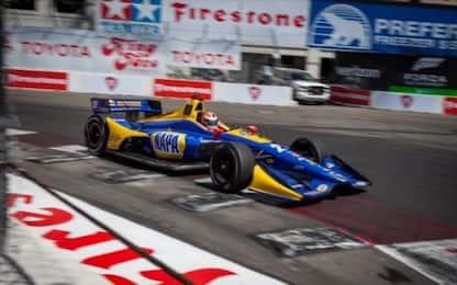 Indycar 2018, a Long Beach in pole Rossi