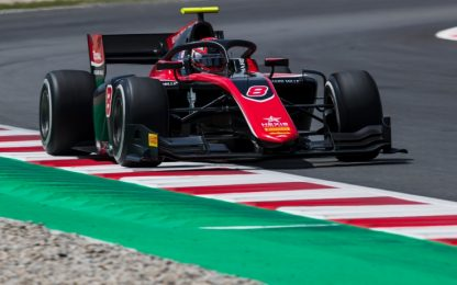 Formula 2, vince Russel. Gara più virtual che real