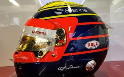 Leclerc, un casco per il papà e Bianchi