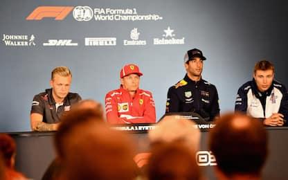 """Kimi: """"Futuro? Non so"""". Ricciardo: """"Due settimane"""""""
