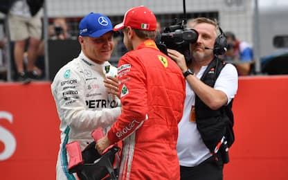 Austria, pole Bottas. Penalità Vettel: scatta 6°