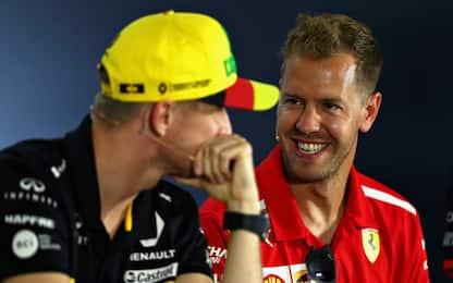 """Vettel: """"Lotta serrata. Kimi? Gran compagno"""""""