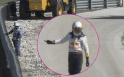 Ricciardo, dito medio e pugno: retroscena Austin