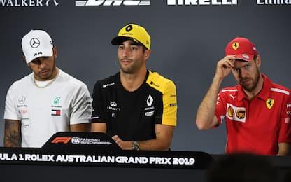 Australia, tutta la conferenza con Vettel e Lewis