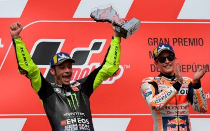 Marquez e Rossi, un box per due