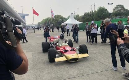 1000 GP, in Cina Damon Hill sulla Lotus del padre