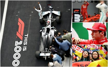 Cina, re Lewis e la Ferrari che frena: highlights