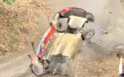 Rally, pauroso crash di Neuville e Gilsoul. VIDEO