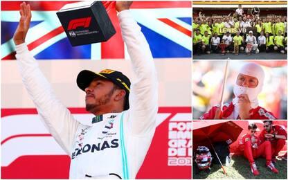 Assolo Lewis, la Ferrari soffre: gli highlights