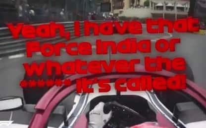 """Kimi e la Force India: """"O come c... si chiama ora"""""""