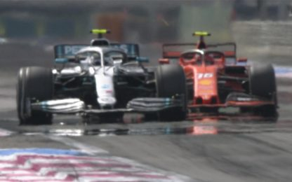 Leclerc, l'attacco a Bottas nel finale. VIDEO