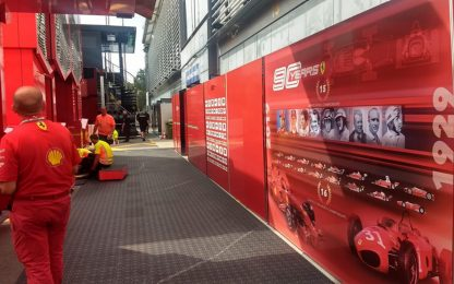 """Ferrari, """"lavori in corso"""" al paddock Monza. FOTO"""
