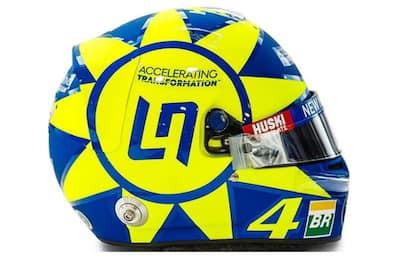 Norris, passione Vale Rossi: il casco per Monza