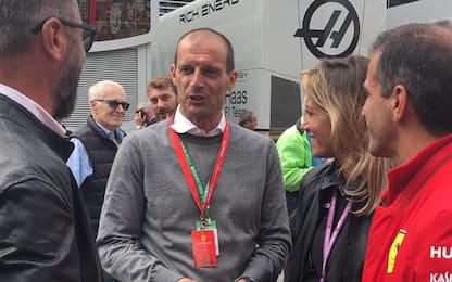 """A Monza c'è anche Allegri: """"Qui per la Ferrari"""""""