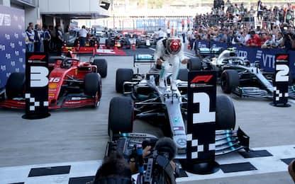 Beffa Rossa, Hamilton vince in Russia. Leclerc 3°