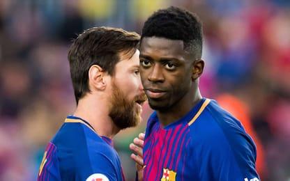 Barça, nuovo stop per Dembelé: out 3-4 settimane