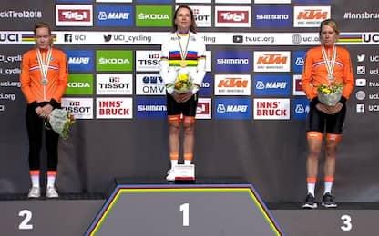 Mondiali ciclismo, crono donne: tripletta oranje