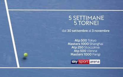 Sky verso le Finals, 34 giorni di tennis no stop