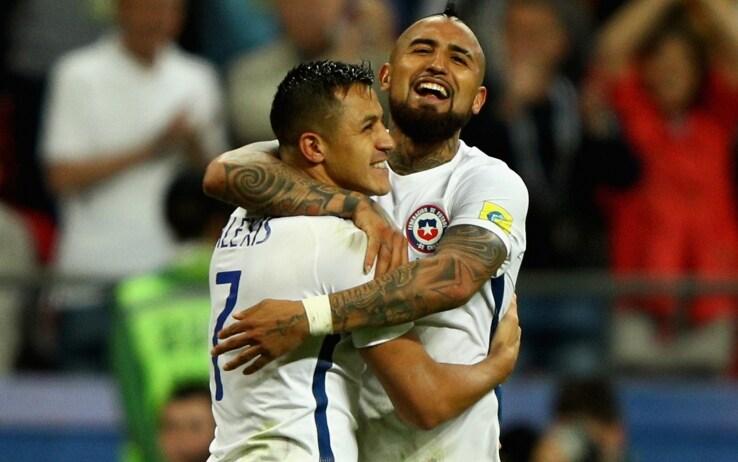 Vidal e Alexis Sanchez (GettyImages)
