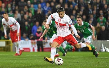 Irlanda del Nord-Svizzera 0-1, decide Rodriguez