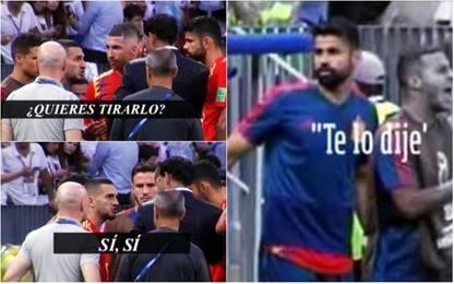 """Spagna, D. Costa contro Hierro: """"Te l'avevo detto"""""""