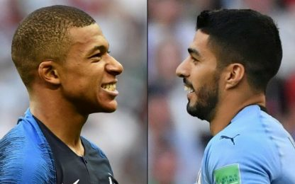 Mondiali, quarti: le quote di Uruguay-Francia