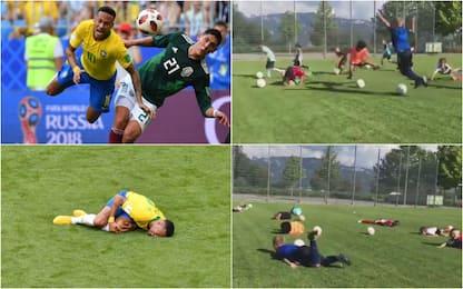 Bambini come Neymar, al nome tutti giù per terra