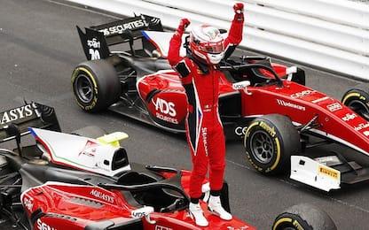 Monaco, Fuoco e fiamme: sua la Sprint Race in F2