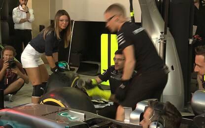 Mercedes, pit stop perfetto con Federica Masolin