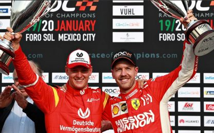 Race of Champions, Vettel e Schumi Jr secondi
