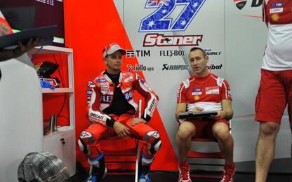 Ducati: Stoner debutta sulla GP17, Jorge osserva