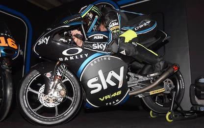 Sky-VR46: si torna in pista, a Valencia primo Test 2017