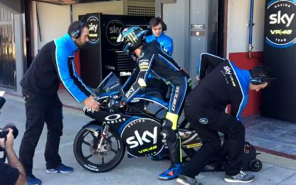 Motori accesi, lo Sky Racing Team VR46 in pista
