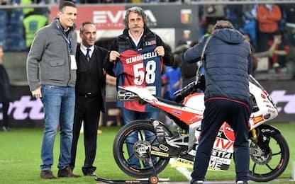 """Genoa-Samp, derby del Sic: in campo la """"sua"""" moto"""