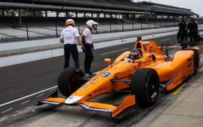 Indy500, prove libere 3: il vento non ferma Alonso