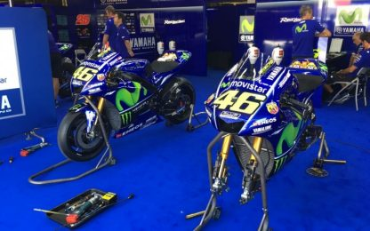 Test Montmeló, Yamaha in pista con due nuovi telai