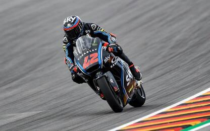 Moto2, Bagnaia fa i conti con la pioggia