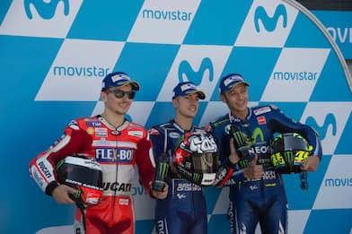 Aragon, pole di Vinales davanti a Lorenzo e Rossi
