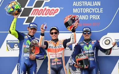 Australia: vince Marquez davanti a Rossi, 13° Dovi