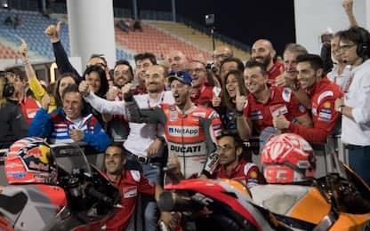 GP Qatar: vince Dovizioso, 2° Marquez, 3° Rossi