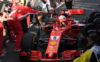 Alba Rossa, trionfo Vettel. Hamilton 2°, Kimi 3°