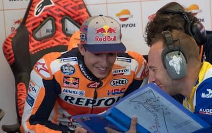 GP Austin, Marquez in testa nel warm up